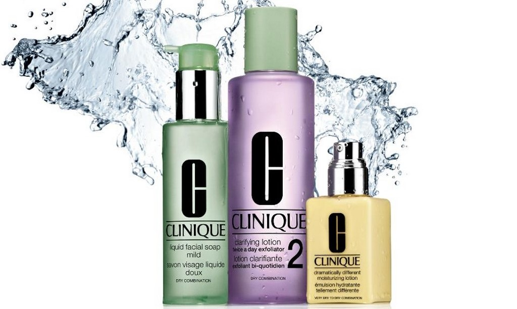 Clinique Foaming Sonic Facial Soap, Clarifying Lotion, Emulsion Dramatically Diferent Moistruizing Lotion